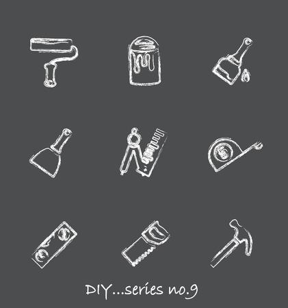 Diy chalkboard icons...series no.9