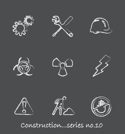 Construction chalkboard icons...series no.10 Stock Vector - 7001000