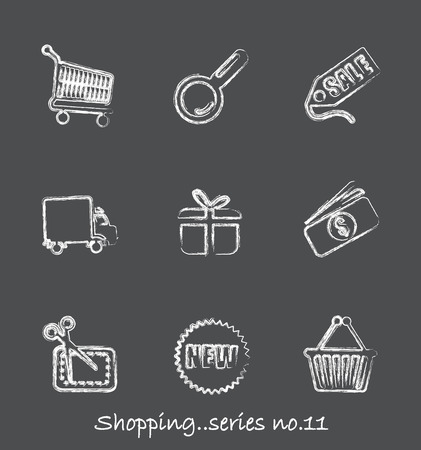 Shopping chalkboard icons...series no.11 Vector
