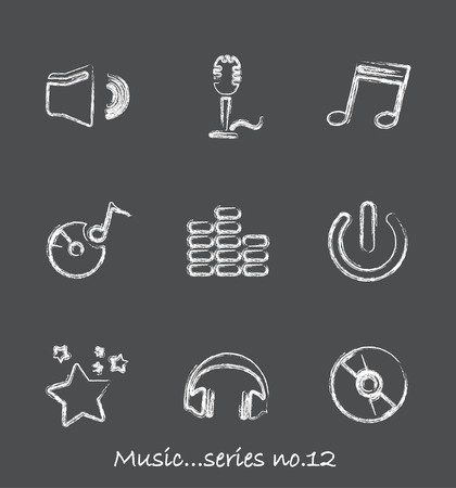 Music chalkboard icons...series no.12 Vector