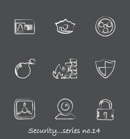 Security chalkboard icons...series no.14 Stock Vector - 7001009