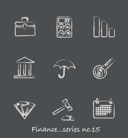 Finance chalkboard icons...series no.15 Vector