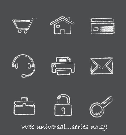 Web chalkboard icons...series no.19 Stock Vector - 7000998