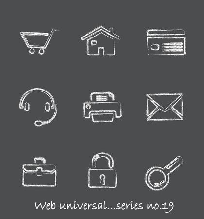 Web chalkboard icons...series no.19 Vector