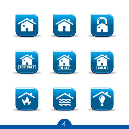 locked icon: Set of nine home services web icons from series Illustration