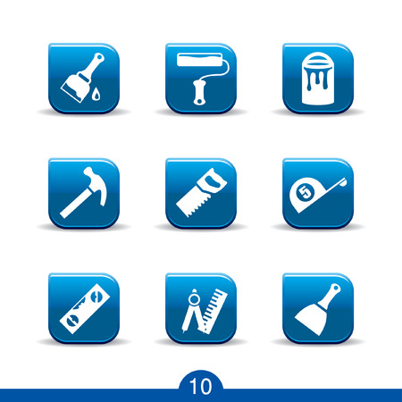 renovation: Set of nine DIY web icons from series