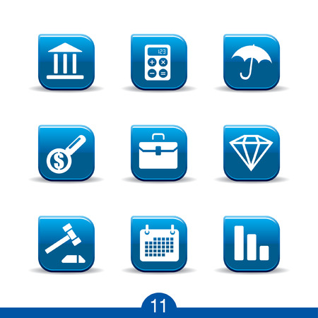 Set of nine finance web icons from series Vector