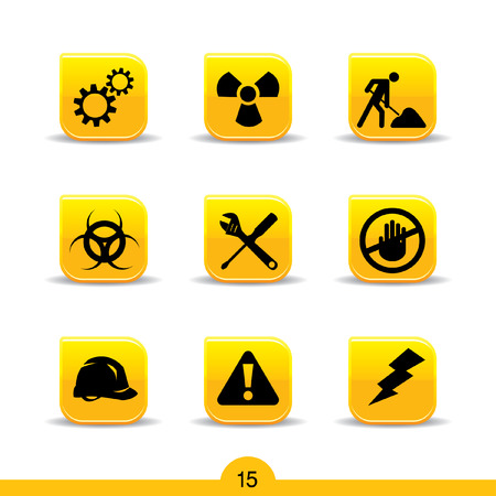 Set of nine construction web icons from series Stock Vector - 8211108