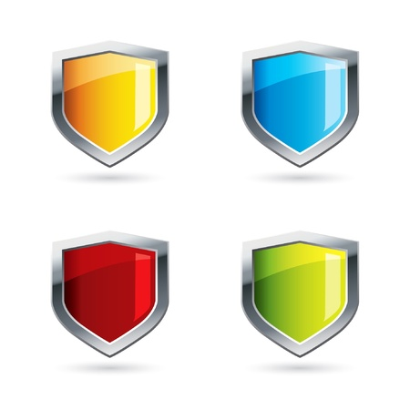 3d shield: Shields Illustration
