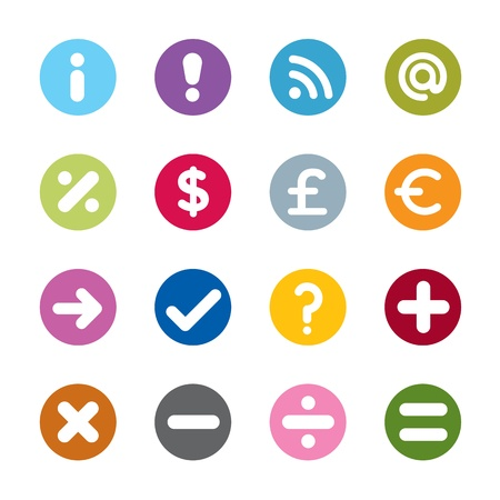 subtract: Modern web icons. 16 colors Illustration