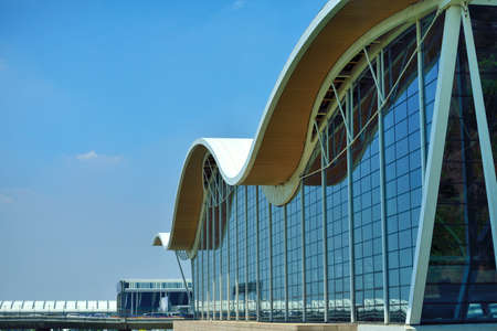 architectural lighting design: Pudong airport terminal building