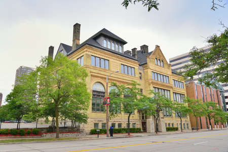 university of wisconsin: United States Street building Editorial
