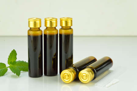 formulations: Chinese traditional medicine oral solution Stock Photo