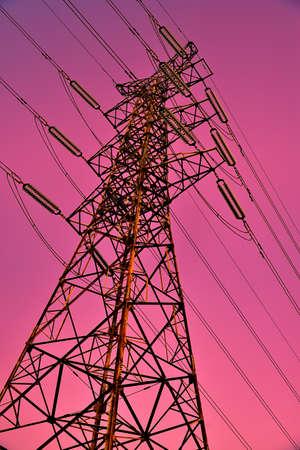 electric grid: High-voltage poles
