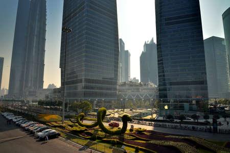 greening: Shanghai Pudong Lujiazui international financial center complex