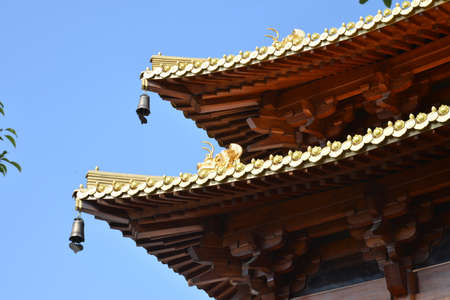 tenon: Chinese traditional architecture Stock Photo