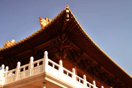 tenon: Chinese temple local Stock Photo