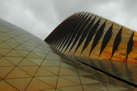the world expo: The Shanghai World Expo Pavilions exterior view