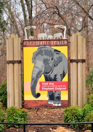 signage outdoor: Washington Zoo Billboard
