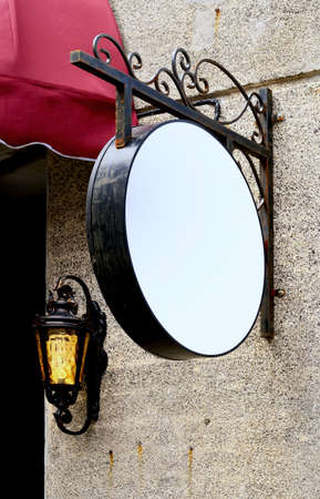 light box: Street blank round light box sign