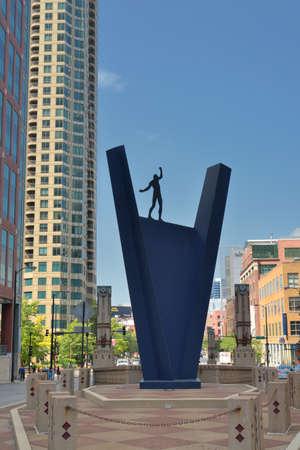 Chicago city sculpture Editorial
