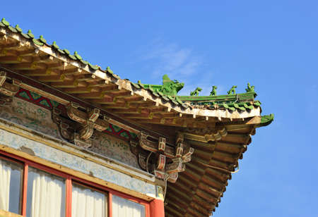 tenon: Feature of Chinese classical architecture Stock Photo