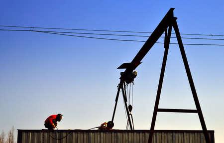 welding worker: Welding worker Stock Photo