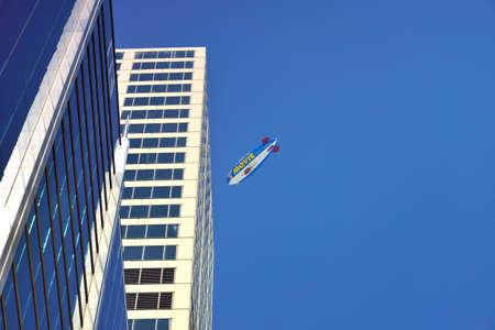 luftschiff: Stadt Himmel Werbung Luftschiff