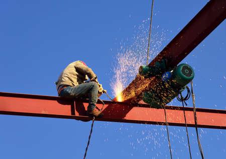High altitude welding field Stock Photo