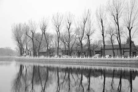 Beijing Houhai black and white photos