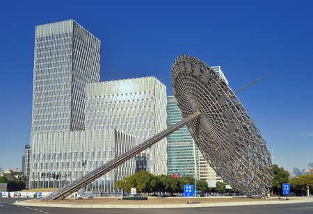reloj de sol: Shanghai Century Avenue sundial sculpture