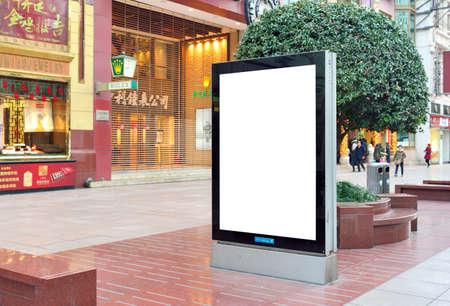 publicidad exterior: Advertising Blank billboard at street Editorial