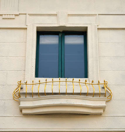 European style building glass window