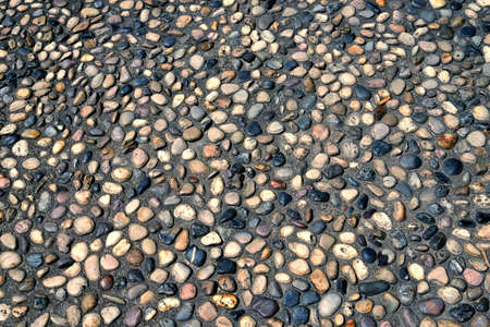 A cobblestone paved ground