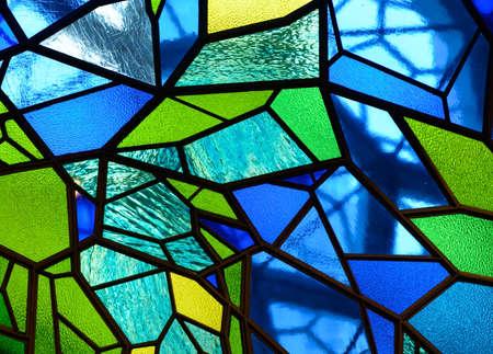 Coloured glass mosaic background Archivio Fotografico