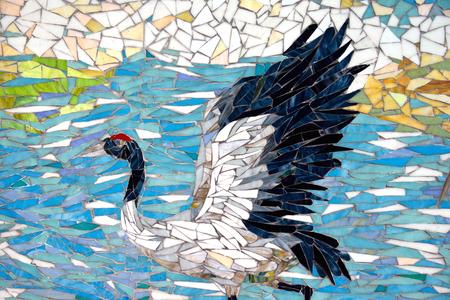 Animal Collage - White Crane