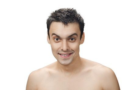 disheveled: young man with disheveled hair