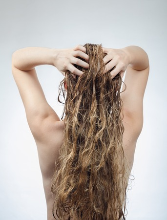 20 29 years: woman washes her beautiful hair