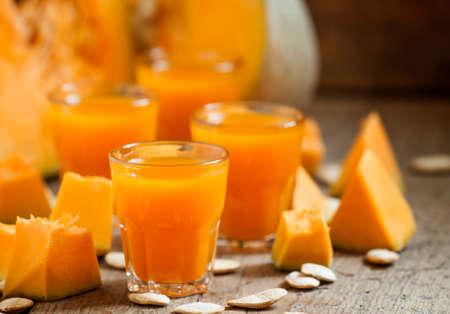 Pumpkin juice, selective focus Stok Fotoğraf