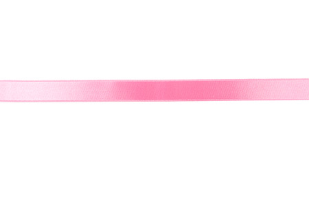 Pink Ribbon auf weißem Hintergrund