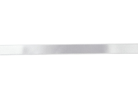 silver ribbon: Silver ribbon on white Stock Photo