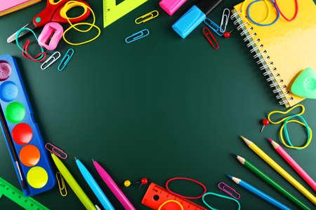Schulbedarf, Hintergrund mit Kopie Raum