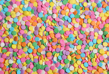 hundreds and thousands: Colorful sprinkles background