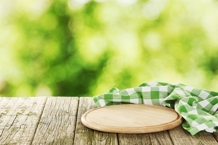 ligneous: Background with wooden table with cutting board