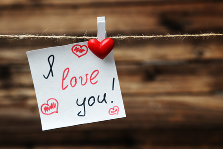 love notes: I love you!