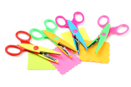 figured: Figured scissors isolated on white