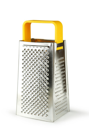 metal grater: Metal grater isolated on white