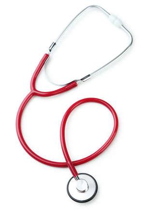 stethoscope: Stethoscope isolated on white