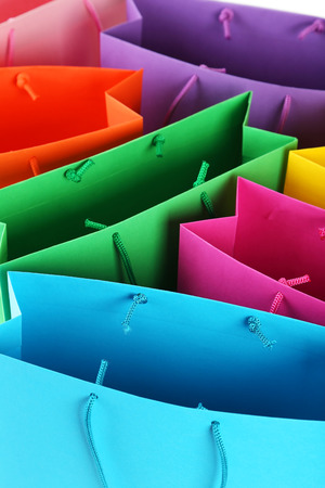 gift bag: Colorful shopping bags background