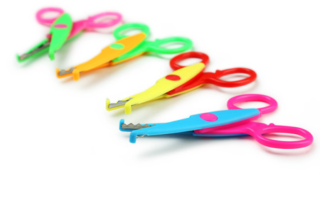 paper art projects: Figured scissors isolated on white